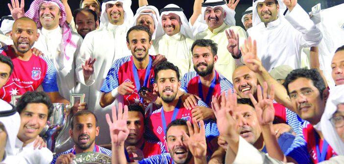 فقط في الكويت… تتـــــويجان لبطل الدوري..!