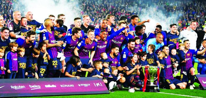 برشلونة بطل الليجا: عصــر ميــــــسي