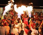 احتفالات عارمة في: الملعب، الشوارع، الأزقـــــة، القرى والحواري